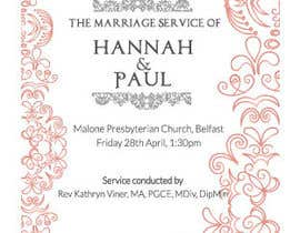 #10 for Order of Service - Wedding Design by SKonas