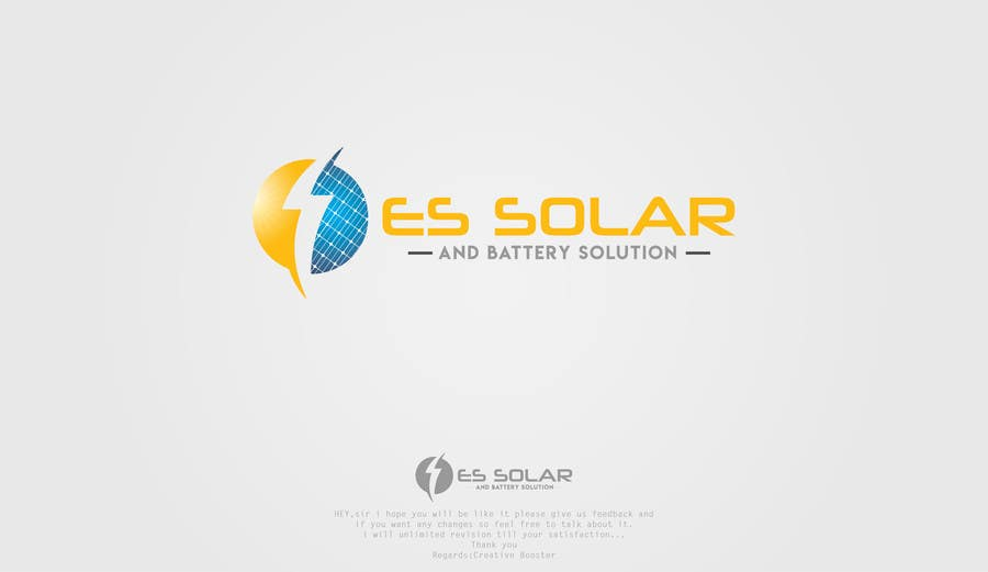 Contest Entry #211 for Logo for business - ES Solar and Battery Solutions