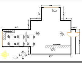 #7 for Create a Motel Hallway in AutoCad by Boukheit25210