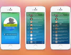 "ChillyChan tarafından Design an App Mockup for ""Who Viewed My Profile"" için no 15"