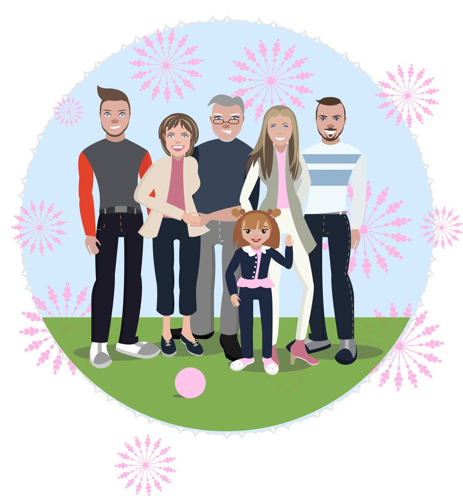 Proposition n°23 du concours Turn this family into a CARTOON!