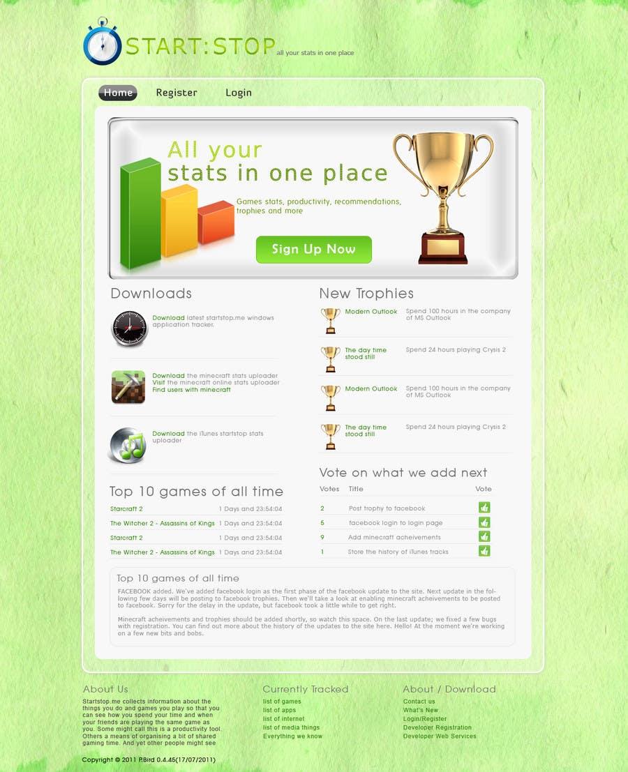 Wettbewerbs Eintrag #25 für Website Design for startstop.me