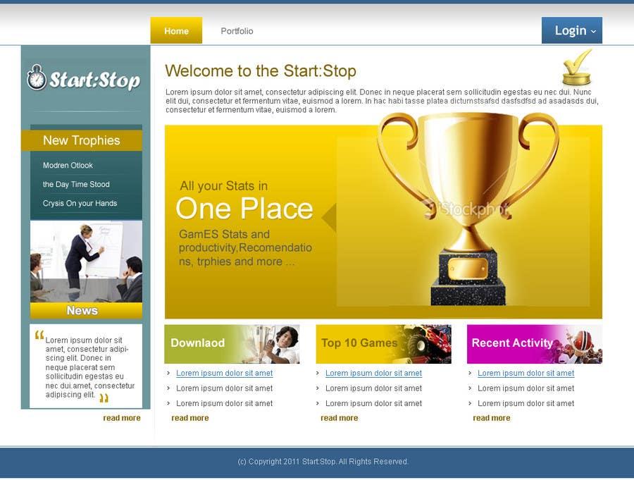 Penyertaan Peraduan #6 untuk Website Design for startstop.me