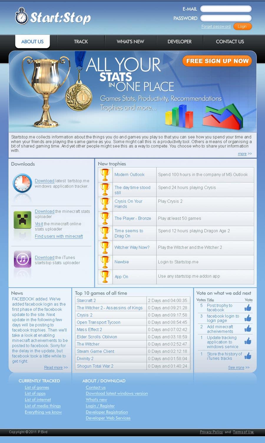 Konkurrenceindlæg #                                        19                                      for                                         Website Design for startstop.me