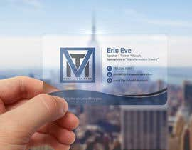 #93 for Design ONE-SIDED Business Cards for Clear Plastic by smartghart