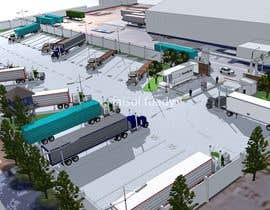 nº 10 pour Design a tractor trailer parking lot with security positions par faisolfuady