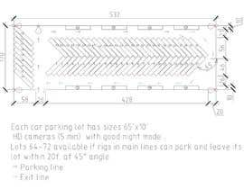 nº 8 pour Design a tractor trailer parking lot with security positions par emperor10e