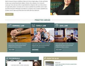 nº 20 pour Design a Website Mock up for attorney par pixelwebplanet