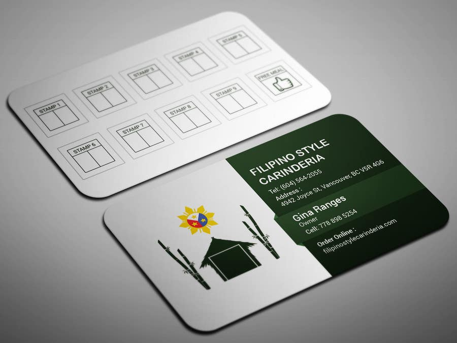 Kilpailutyö #                                        12                                      kilpailussa                                         Design some Business Stamp Cards