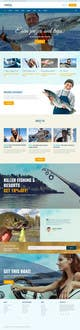 Contest Entry #7 thumbnail for Design a Website Template with a Fishing Theme