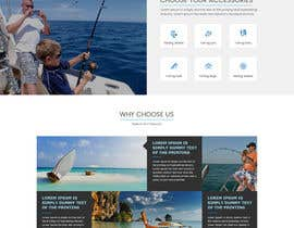 nº 25 pour Design a Website Template with a Fishing Theme par sudpixel
