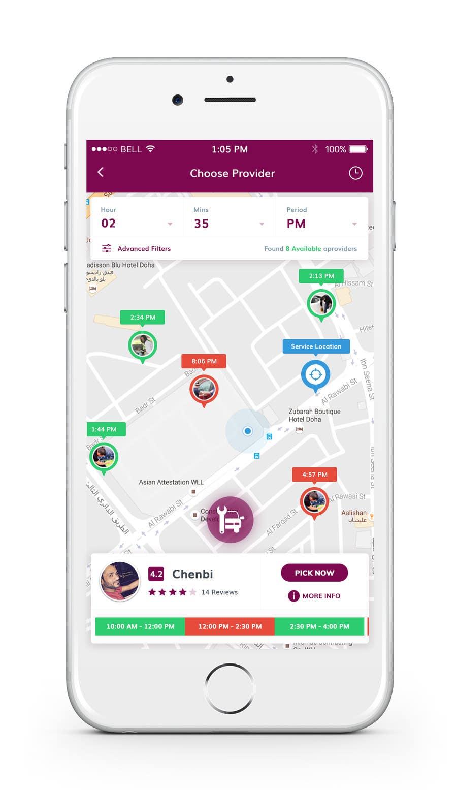 Proposition n°23 du concours Roadside assistance (Two App Screens)