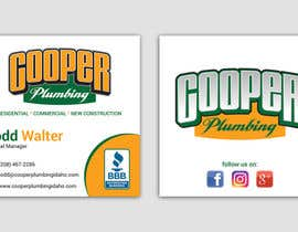 nº 29 pour Cooper Plumbing Business Cards (and future marketing design work) par smartghart