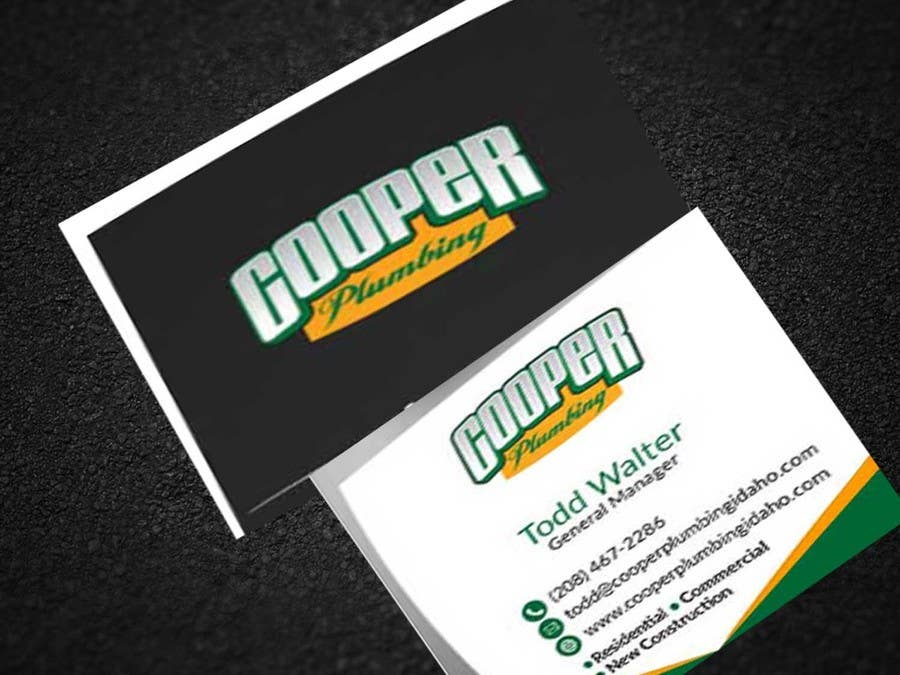 Entry #72 by bapparajcolormix for Cooper Plumbing Business Cards ...