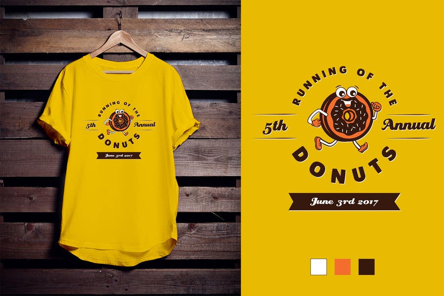 Proposition n°46 du concours Design a T-shirt for the 5th Annual Running of the Donuts