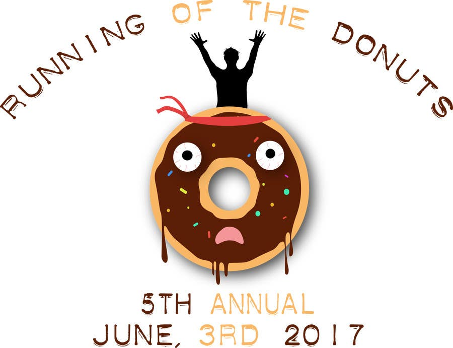 Proposition n°3 du concours Design a T-shirt for the 5th Annual Running of the Donuts