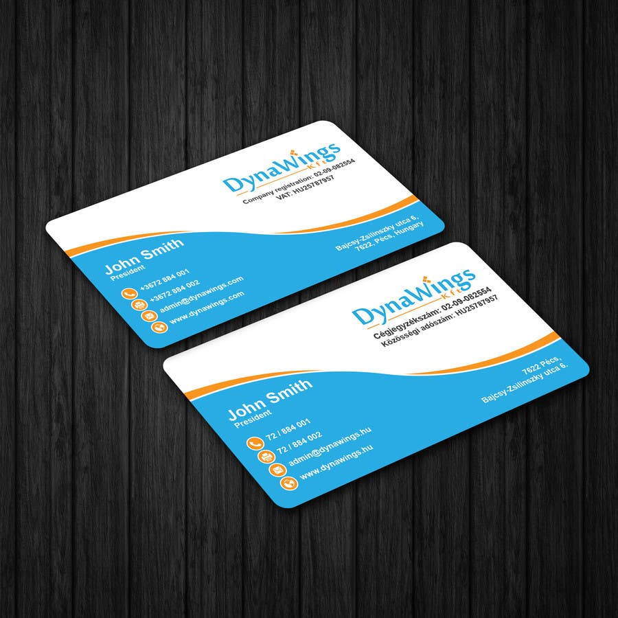 Entry #22 by patitbiswas for Design Business Card for DynaWings Kft ...