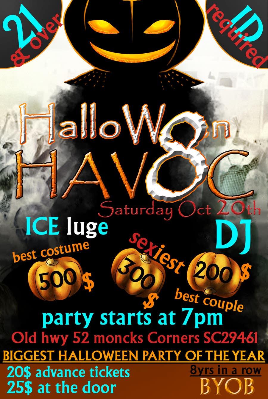 Konkurrenceindlæg #                                        32                                      for                                         Graphic Design for Halloween Havoc 8