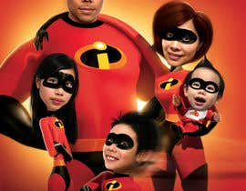 nº 35 pour Photoshop a family picture for me  - The Incredibles par dhimage