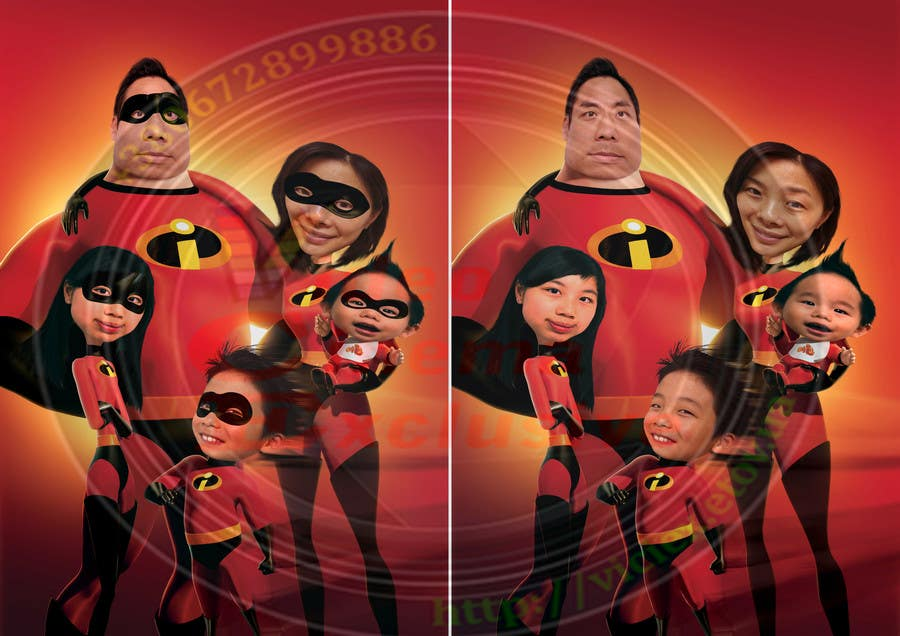 Proposition n°16 du concours Photoshop a family picture for me  - The Incredibles