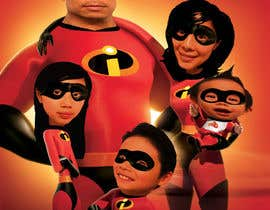 nº 6 pour Photoshop a family picture for me  - The Incredibles par tameregiziano