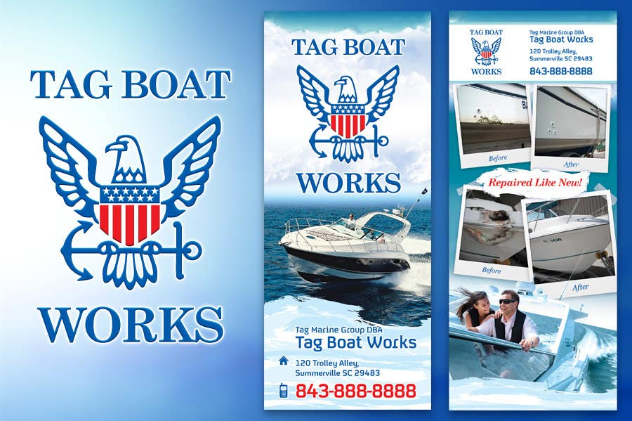 #1 for Graphic Design for Tag Marine Group DBA Tag Boat Works by solidussnake