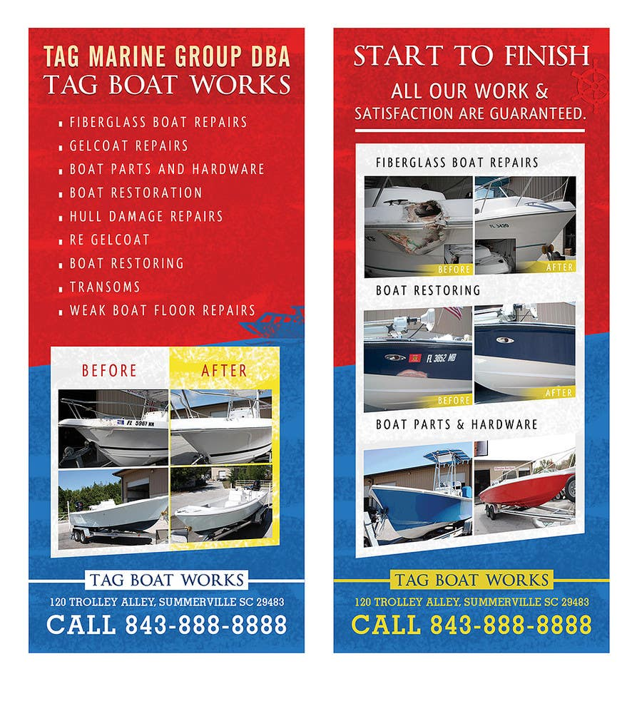 #19 for Graphic Design for Tag Marine Group DBA Tag Boat Works by pris