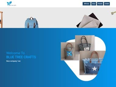 Blue tree crafts is based on hand crafted products where user can see products and contact bluetreecraft support to buying the products only