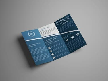 I have designed this Tri-Fold Brochure for my client.