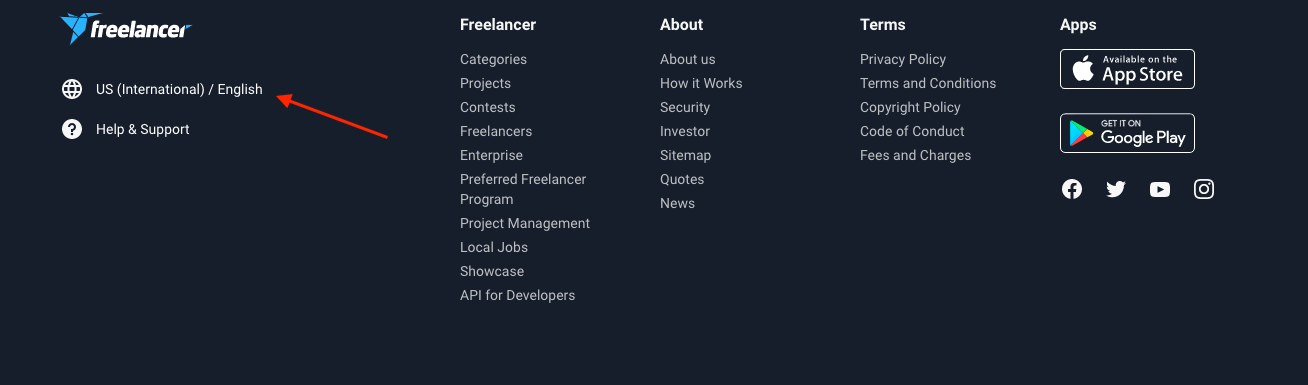 freelancer translation switcher