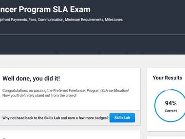 Qualified Preferred Exam with 94%