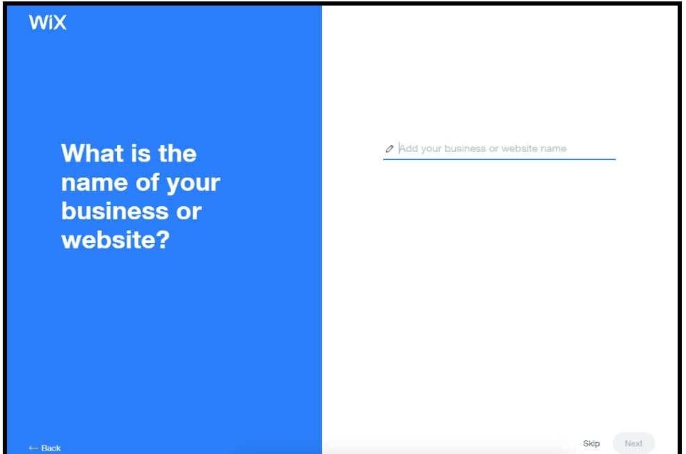 wix adi choosing website name