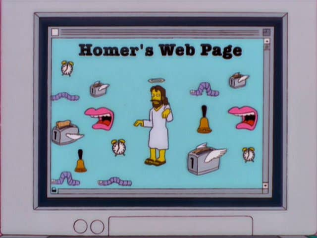 homers website simpsons