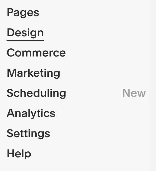 squarespace toolbar
