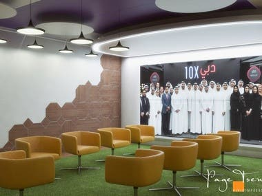 This project was the runner-up entry for a competition to design the interiors of the meeting room and the creative room for pardus.ae - a marketing agency in Dubai.