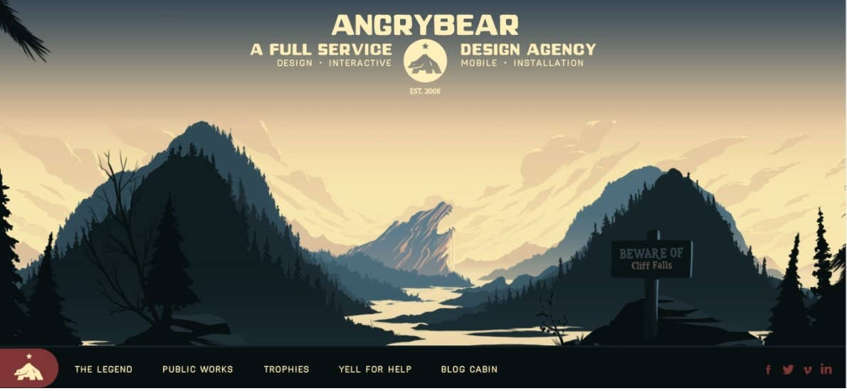 Angry Bear Design single page website
