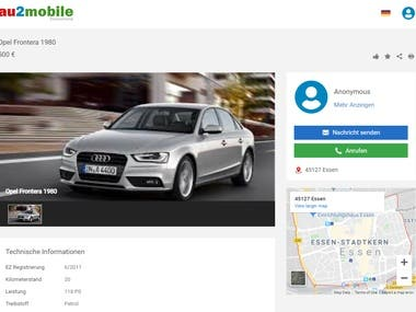 This website is about selling cars online. It is a multi lingual website. It is developed using php codeigniter, ajax and jquery.