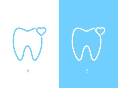 Logo designed for dental comany.