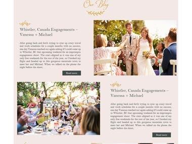 A Wedding photographer website Design
