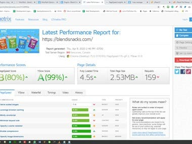 We have improved Website Page Speed Optimization at google page speed optimization and gtmetrix.com..By custom code optimization, Images optimization, CDN usages. and more other optimization.