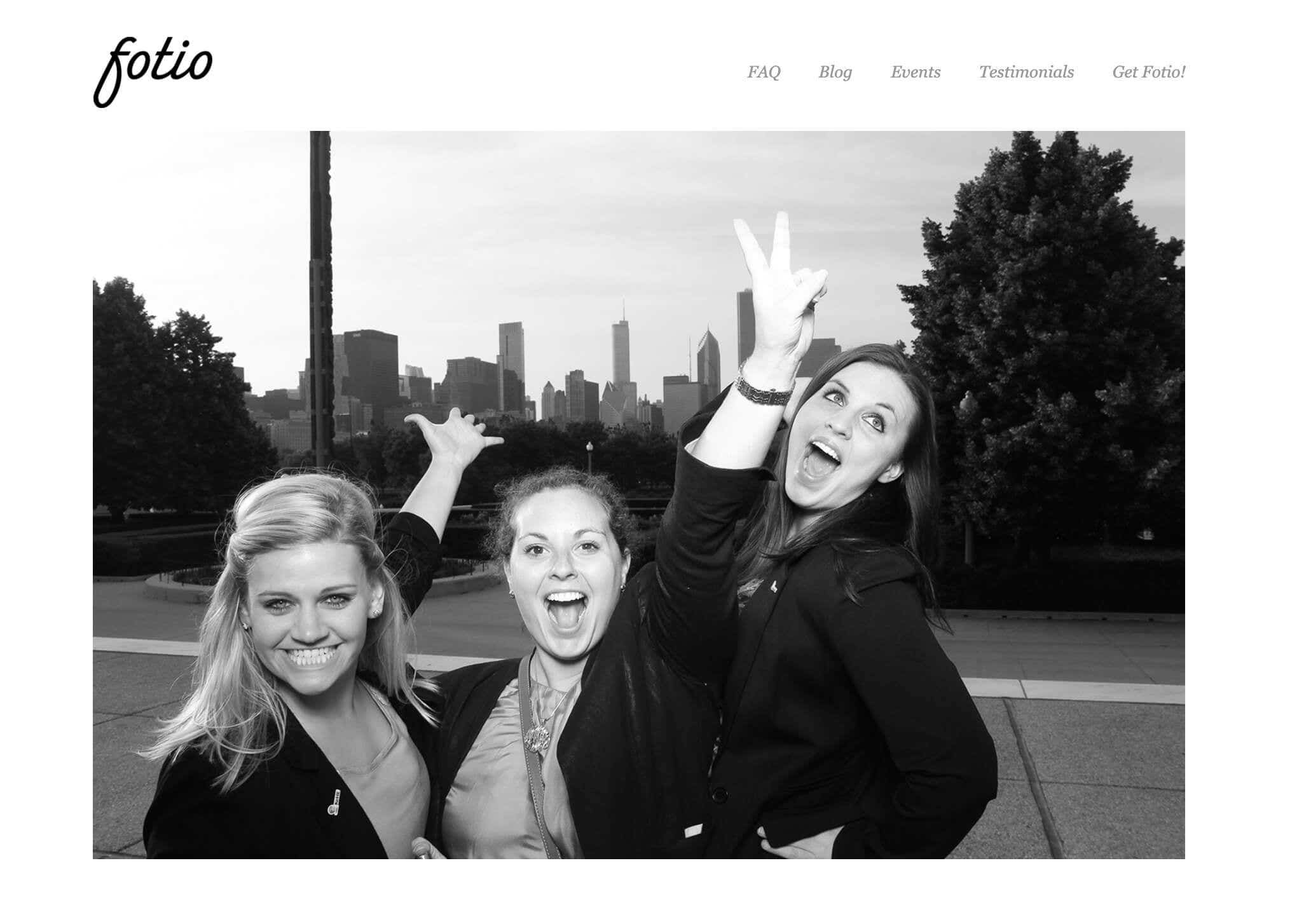 fotio website design