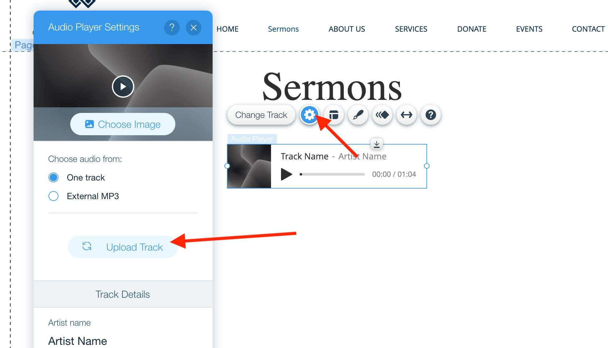 how to build a church website with wix