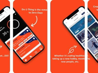"""Do-1-Thing is on a mission to eliminate those days where you go to bed, lay down and think """"I did absolutely nothing today,"""" – in a bad way. We call them """"Zero-Days"""" and we know how empty they can make you feel. Do-1-Thing is the remedy to Zero-Days."""