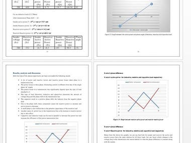 - Analyzing Parameters which affect Real and Reactive power in Transmission line - Investigating the DC Shunt Generator - Power Voltage Curve of High voltage transmission Line