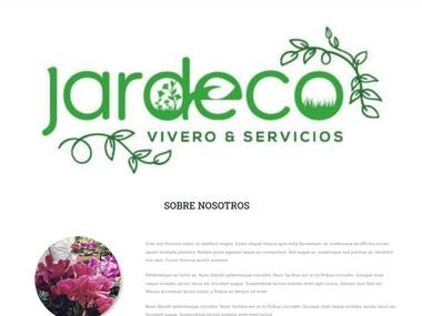 Landing page + woo commerce for local garden shop