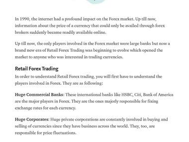 Retail Forex Trading  An introduction to retail Forex trading, the market, the risks and rewards.