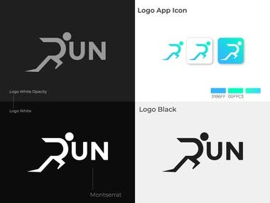 R Run letter logo design