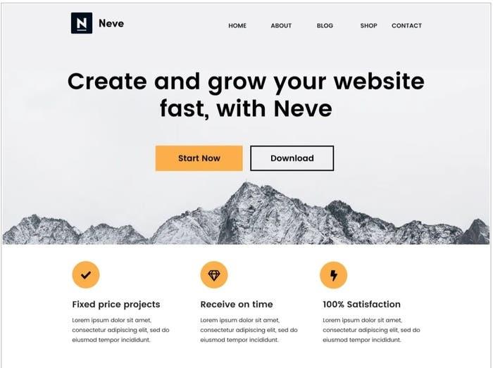 neve free wordpress theme