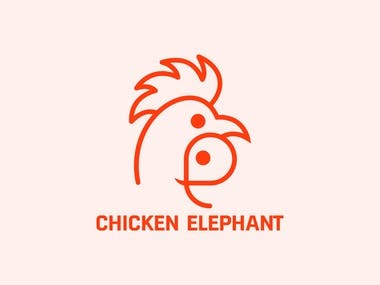 CHICKEN ELEPHANT modern minimalist creative business logo design.  Interested in working with me? Feel free to contact me: