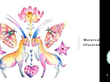 Hand painted using watercolour then edited digitally to create repeat patterns. Inspired by endangered animal species.